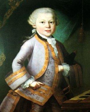 Mozart in vestito di gala